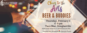 """Cheers to the Arts """"Beer and Buddies"""" @ Taco Mac"""