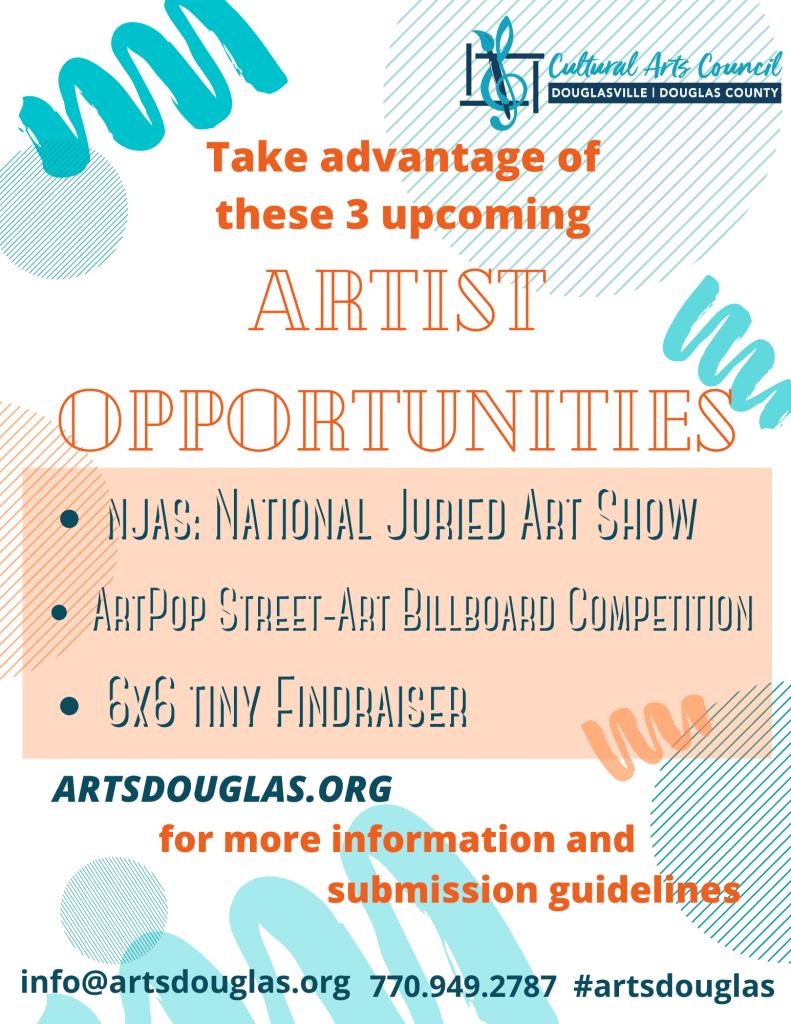 3 Artist Opportunities