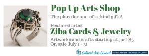 July Pop Up Arts Shop @ Cultural Arts Council