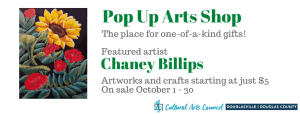October Pop Up Arts Shop @ Cultural Arts Council