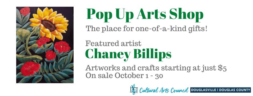 October Pop Up Arts Shop