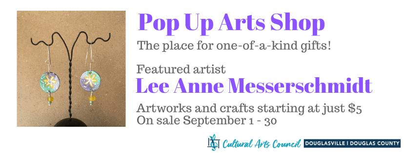 September Pop Up Arts Shop