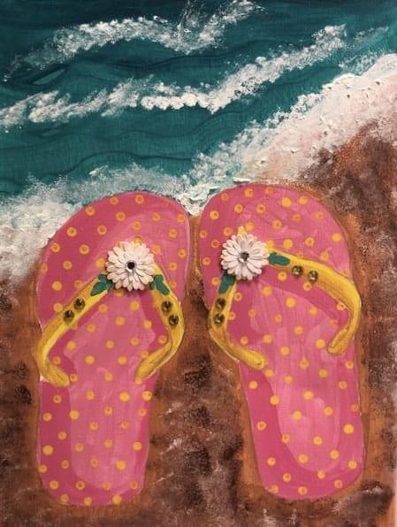 Flip Flops on the Beach, July 17