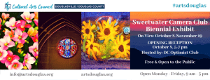 Sweetwater Camera Club Biennial Exhibit @ Cultural Arts Center of Douglasville/Douglas County