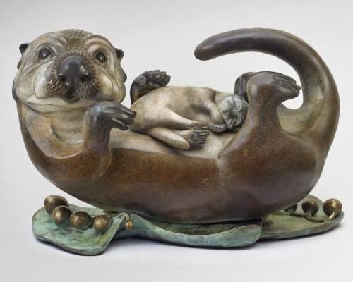 3rd place:Pokey Park, Sea Otter & Pup, Bronze sculpture