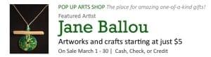 Pop Up Arts Shop: Jane Ballou