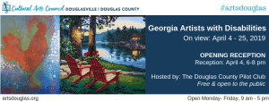 Georgia Artists with Disabilities Exhibit @ Cultural Arts Council of Douglasville/ Douglas County
