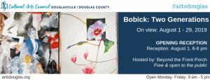 Bobick: Two Generations of Artists Exhibit Opening Reception @ Cultural Arts Council