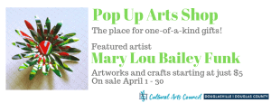 April Pop Up Arts Shop @ Cultural Arts Council