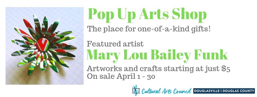 April Pop Up Arts Shop
