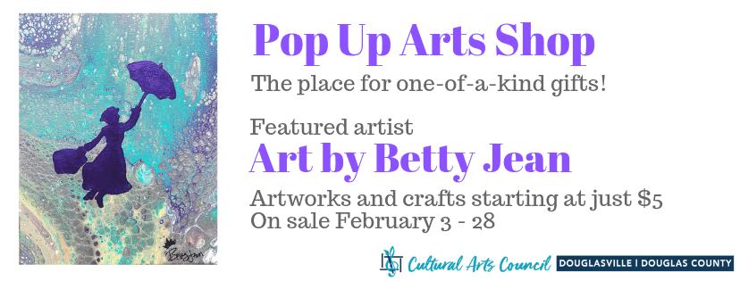 February Pop Up Arts Shop