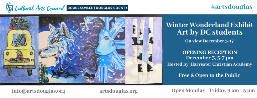 Winter Wonderland Exhibit with Douglas County Students Reception