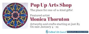January Pop Up Arts Shop @ Cultural Arts Council Douglasville/Douglas County