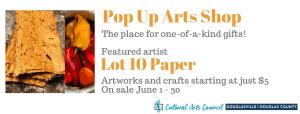 June Pop Up Arts Shop @ Cultural Arts Council Douglasville/Douglas County